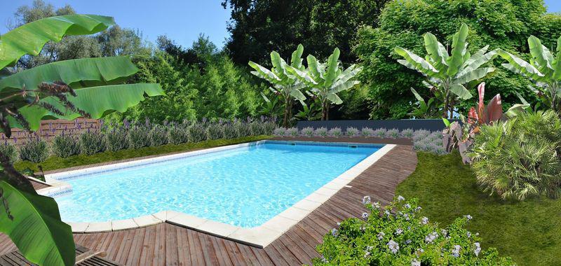 amenagement jardin autour piscine - le spécialiste de la décoration ...