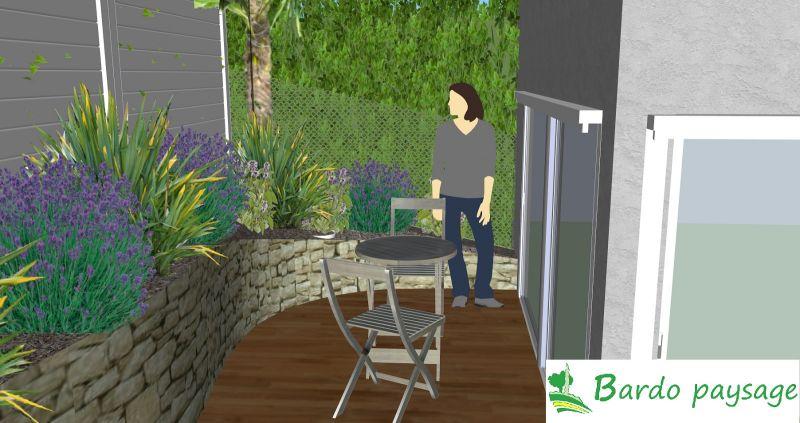amenagement jardin avec denivele
