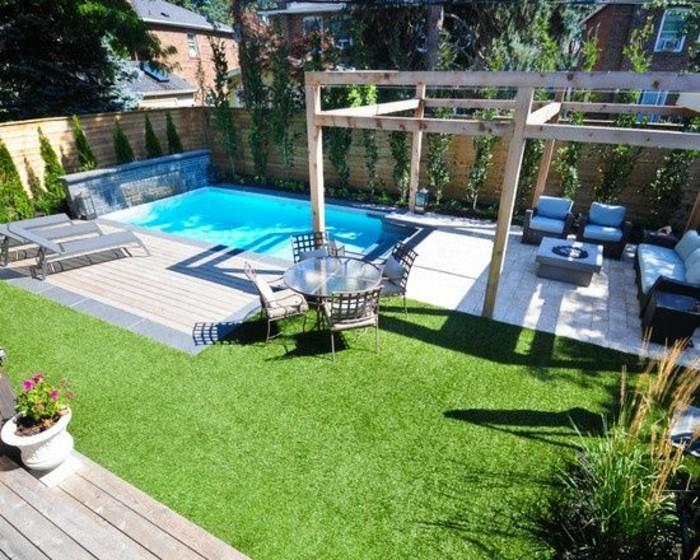 amenagement jardin avec petite piscine