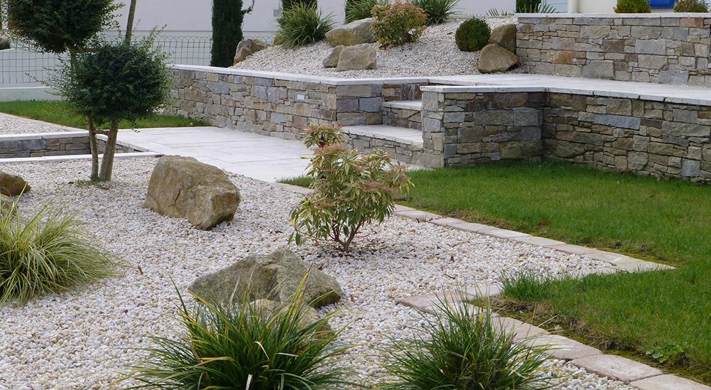 Amenagement jardin bois et pierre le sp cialiste de la d coration ext rieur - Amenagement jardin bois ...