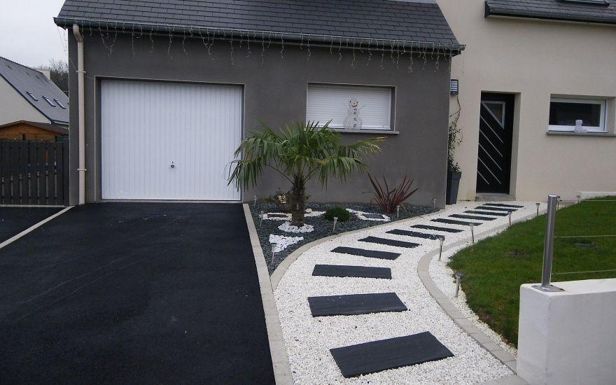 amenagement jardin devant une maison