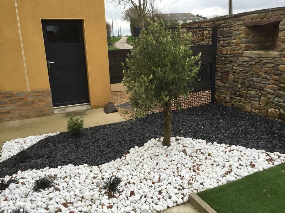 amenagement jardin exterieur avec galets - le spécialiste de ...