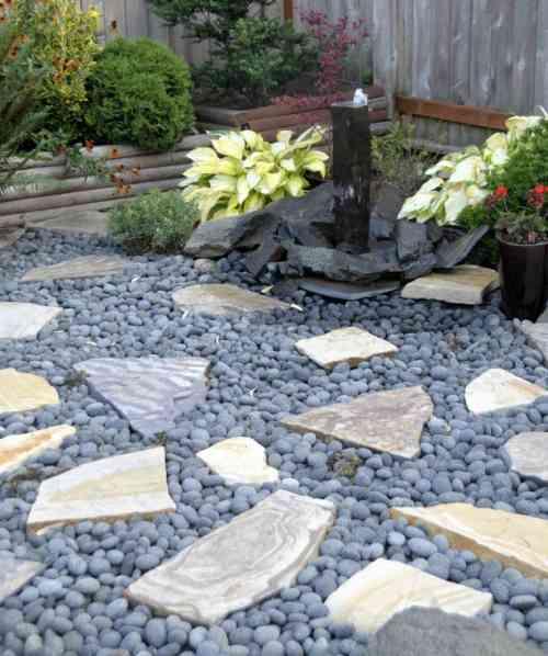 amenagement jardin exterieur avec galets - le spécialiste de la ...