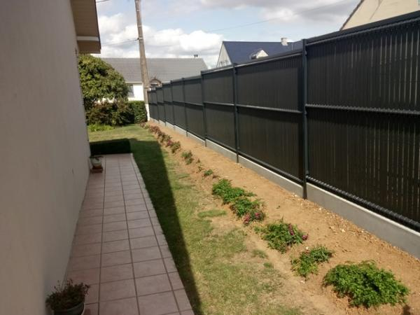 amenagement jardin grillage