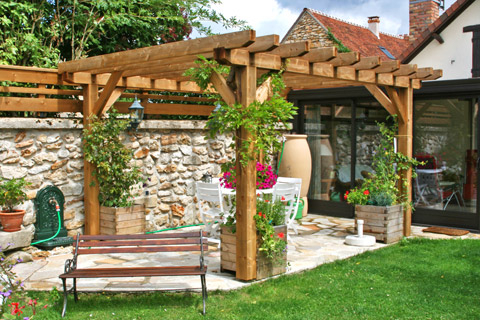 amenagement jardin pergola