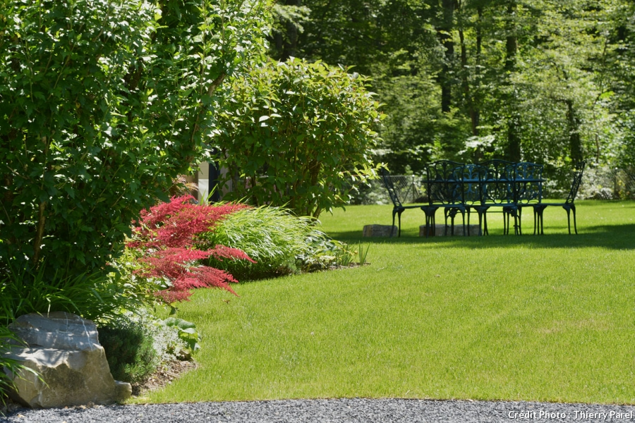 amenagement jardin plat