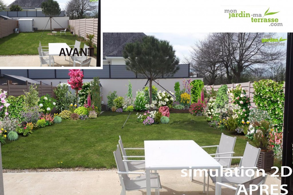 amenagement jardin vis a vis