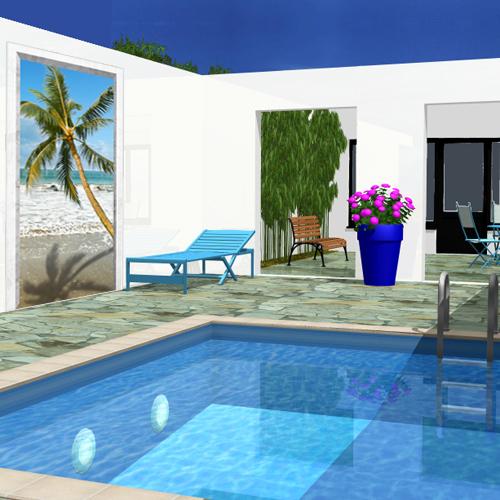 decoration exterieur de piscine