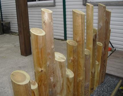 decoration exterieur en rondin de bois , le spécialiste de