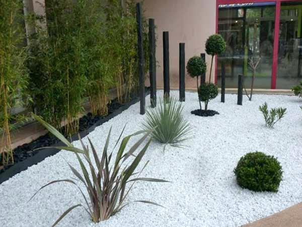 decoration exterieur jardin galet