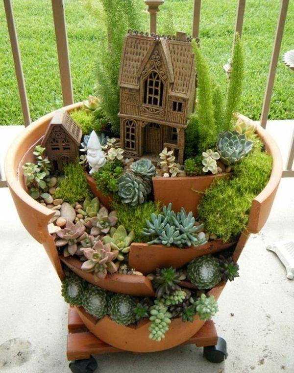 decoration exterieur pot de fleurs