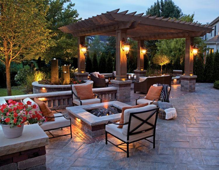 decoration terrasse avec pergola