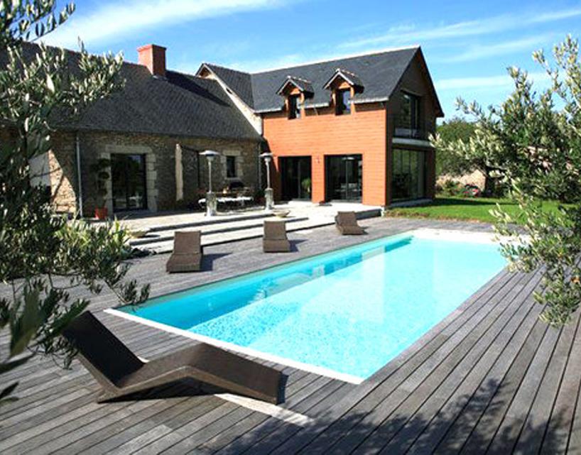Decoration terrasse avec piscine le sp cialiste de la Idee amenagement piscine