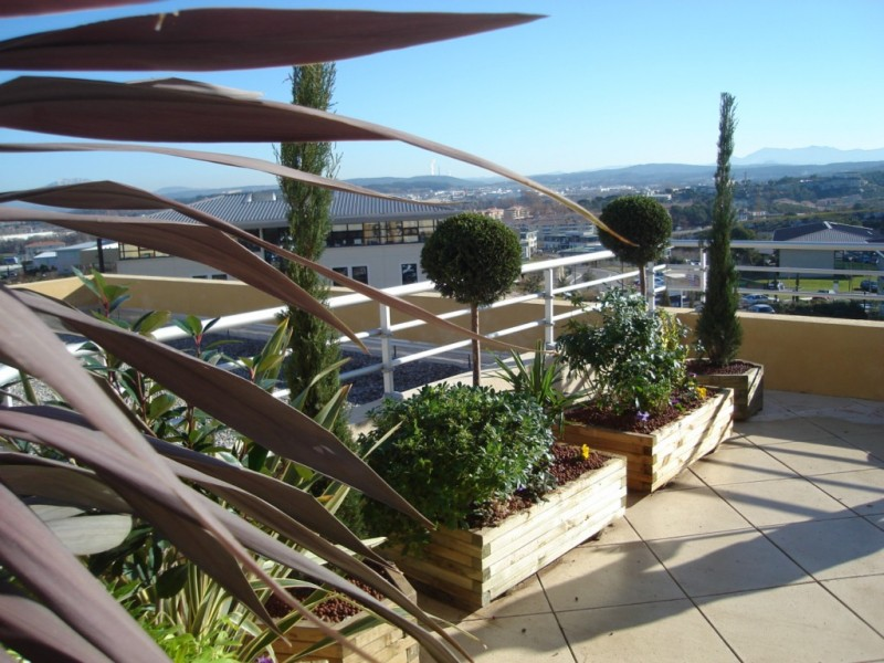 decoration terrasse jardiniere