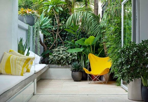 decoration terrasse jaune