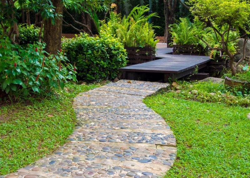 Idee jardin allee le sp cialiste de la d coration ext rieur - Decoration allee de jardin ...