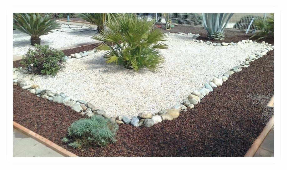 idee jardin avec cailloux