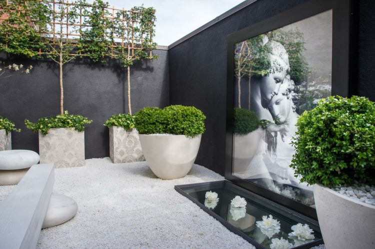 idee jardin cailloux