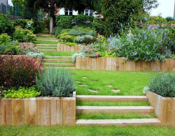 idee jardin en pente