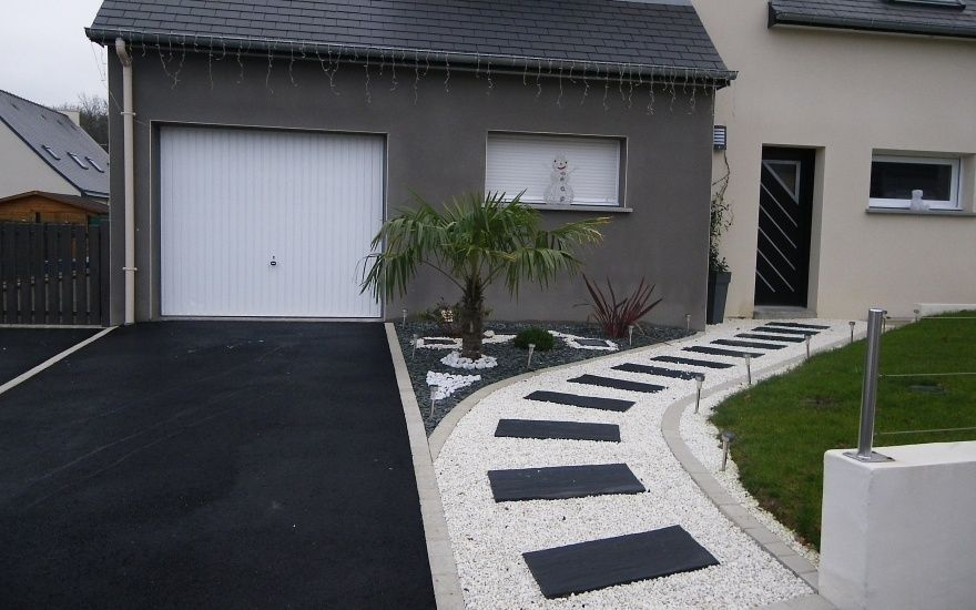 idee jardin entree maison - le spécialiste de la décoration ...