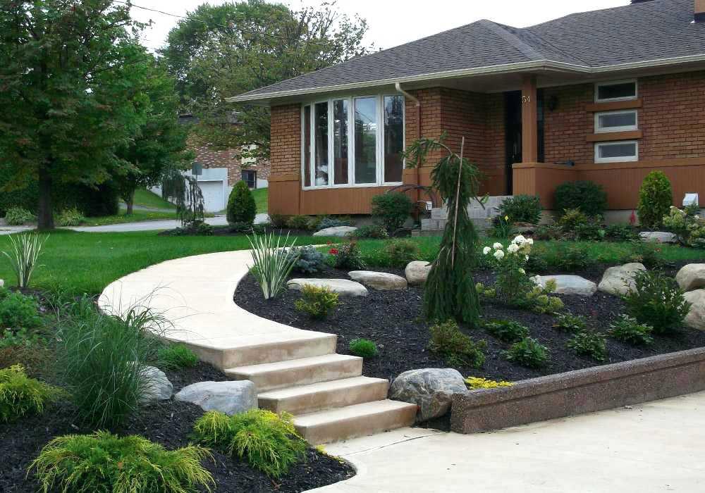 idee jardin facade