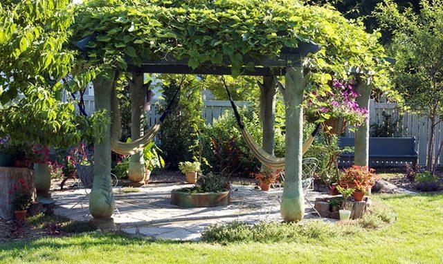 amenagement jardin pergola