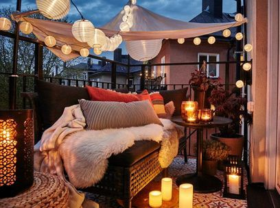 decoration terrasse rouge
